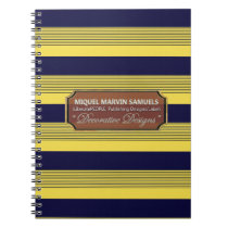 Back to School Decorative Blue Yellow Notebook