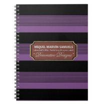 Back to School Decorative Purple Black Notebook