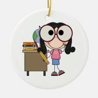 Back To School Double-Sided Ceramic Round Christmas Ornament