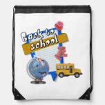 Back to School Drawstring Backpacks