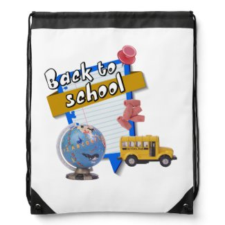 Back to School Drawstring Backpacks