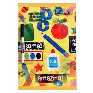back to school dry erase board
