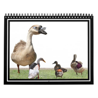 Back to School Ducks with Backpacks Wall Calendars