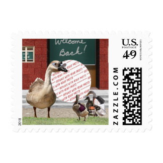 Back to School Ducks with Backpacks PhotoFrame Postage