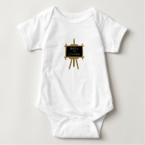 Back to school easel board baby bodysuit