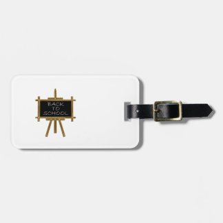 Back to school easel board bag tag