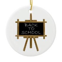 Back to school easel board ceramic ornament