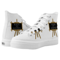 Back to school easel board High-Top sneakers