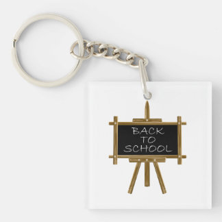 Back to school easel board keychain