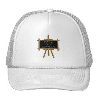 Back to school easel board trucker hat