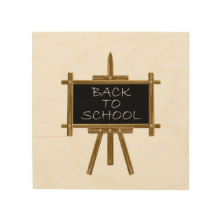 Classroom wood wall art zazzle for Back to school wall decoration
