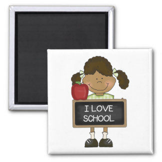 Back To School Elementary School Gift 2 Inch Square Magnet