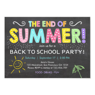 end of year invitations zazzle