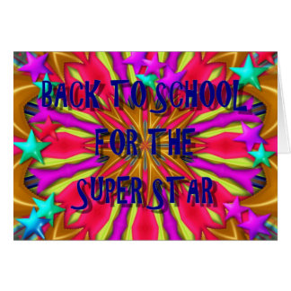 Back To School For The Super Star Card