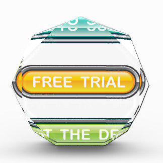 Back to school Free trial Get the deal Buttons Acrylic Award