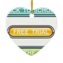 Back to school Free trial Get the deal Buttons Ceramic Ornament
