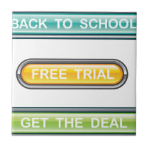 Back to school Free trial Get the deal Buttons Tile