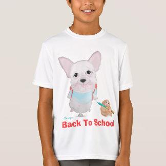 Back to school. French bulldog & funny Hamster. T-Shirt