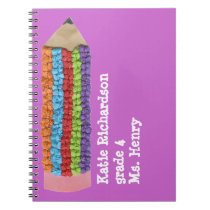 Back to school gift - personalized spiral notebook