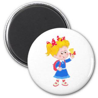 Back to school girl refrigerator magnet