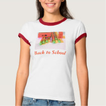 back to school  girls shirt
