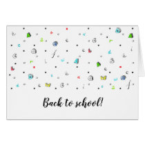 Back to school Greeting card. Card