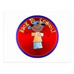 Back To School - Happy Boy (1) Postcard