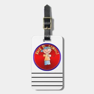 Back To School - Happy Boy (2) Bag Tag