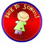 Back To School - Happy Girl (2) Photo Cut Outs