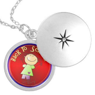 Back To School - Happy Girl (2) Silver Plated Necklace