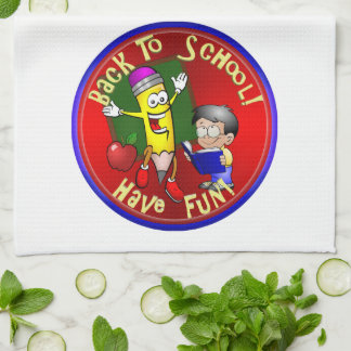 Back To School Happy Pencil - Have Fun Kitchen Towels