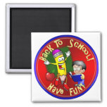 Back To School - Happy Pencil - Have Fun! Magnets