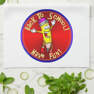Back To School - Happy Pencil Kitchen Towel