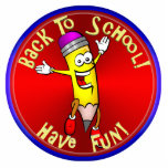Back To School - Happy Pencil Photo Cut Outs