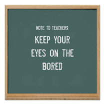 back-to-school humor poster