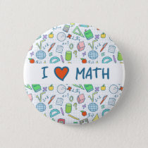 "Back to school: ""I love math"" button"