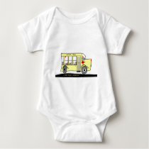 Back to School I want to go too ! School Bus Baby Bodysuit