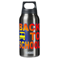 back to school insulated water bottle