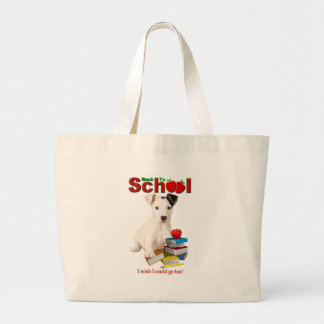Back To School - Jack Russell Terrier Canvas Bags