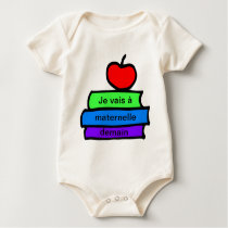 , Back to School, Je vais a maternelle demain Baby Bodysuit