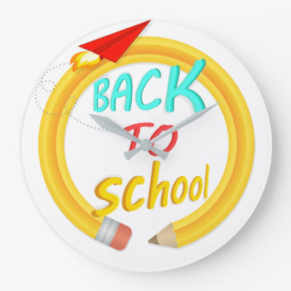 Back to School Large Clock