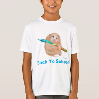 Back to school. Little and funny Hamster. T-Shirt