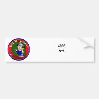 Back To School - Little Boy Reading Book Bumper Stickers