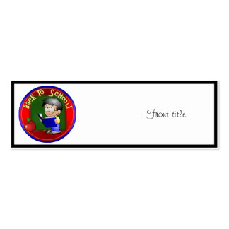Back To School - Little Boy Reading Book Business Card Template