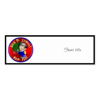 Back To School - Little Boy Reading Book Business Card Templates