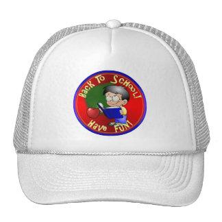 Back To School - Little Boy Reading Book Hats