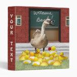 Back To School, Little Duckies! Binder