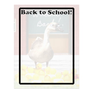 Back To School Little Duckies Full Color Flyer