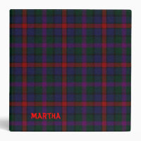 Back to School MacCaughan Tartan Plaid Binder