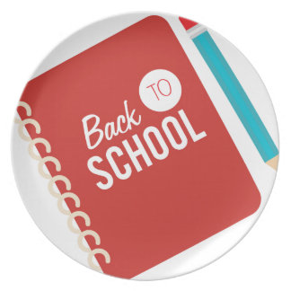 Back To School Melamine Plate